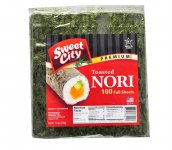 Sweet City Premium Nori Full Cut - 100 Full Sheets