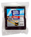 Kosher Roasted Yaki Sushi Nori Silver - 100 Half Cut Sheets