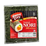 Sweet City Premium Nori Half Cut - 40x200 Half Cut Sheets